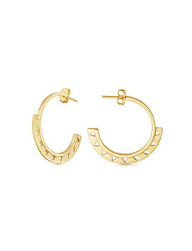 Gold Aztec Axan Hoops by Missoma