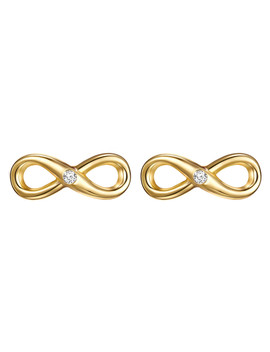 Gold Plated & Diamond Infinity Studs by Tess Diamonds                                      Sold Out