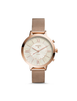 Damen Hybrid Smartwatch Jacqueline   Edelstahl   Roségold by Fossil