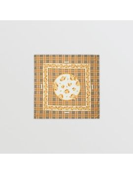 Archive Scarf Print Silk Square Scarf by Burberry