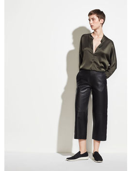 Leather Culotte by Vince