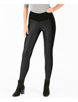 Faux Leather &Amp; Ponte Legging by Ricki's
