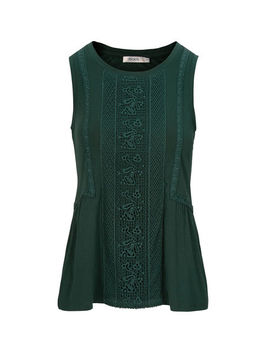 Sleeveless Crochet Front Top by Ricki's