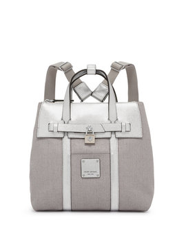 Jetsetter Mini Convertible Canvas Metallic Backpack by Henri Bendel