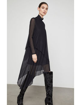Asymmetrical Turtleneck Midi Dress by Bcbgmaxazria