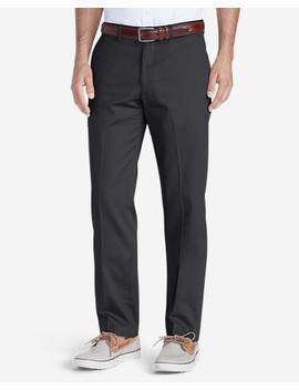 Men's Wrinkle Free Slim Fit Flat Front Performance Dress Khaki Pants by Eddie Bauer