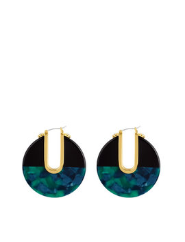 Color Blocked Hoop Earring by Henri Bendel