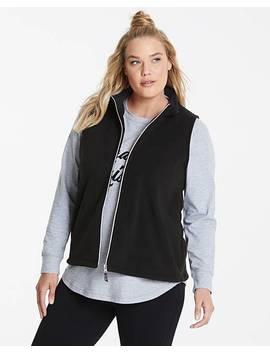 Black Lightweight Fleece Gilet by Fashion World