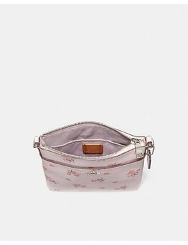 Kitt Messenger Crossbody With Floral Bow Print by Coach