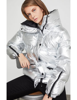 Eden Metallic Puffer Jacket by Bcbgmaxazria