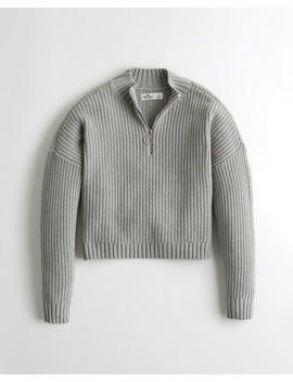 Boyfriend Half Zip Sweater by Hollister