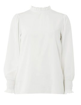 Ivory Sheered Cuff Top by Dorothy Perkins