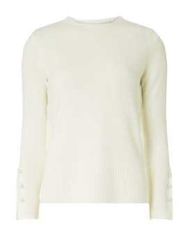 Petite Ivory Embellished Long Sleeve Jumper by Dorothy Perkins