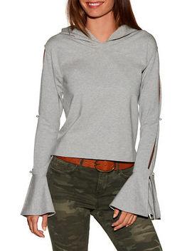 Flare Sleeve Hooded Sweatshirt by Boston Proper