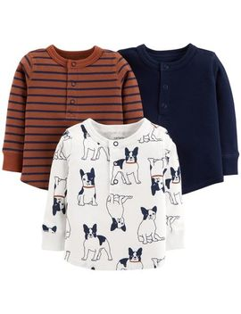 3 Pack Long Sleeve Tees by Carter's