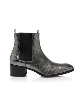 Metallic Python Wilde Ankle Boots by Tom Ford