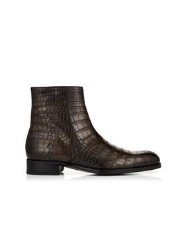Edgar Alligator Hand Polished Zip Boots by Tom Ford