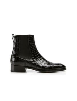 Gianni Alligator Cap Toe Chelsea Boot by Tom Ford