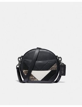 Canteen Crossbody With Patchwork And Snakeskin Detail by Coach