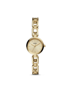 Kerrigan Mini Three Hand Gold Tone Stainless Steel Watch by Fossil