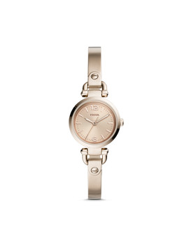 Georgia Mini Three Hand Pastel Pink Stainless Steel Watch by Fossil