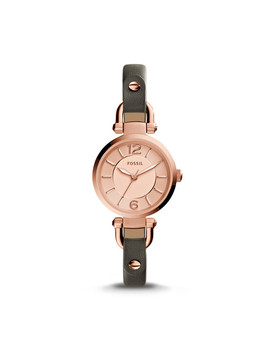 Georgia Grey Leather Watch by Fossil