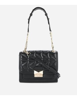 K/Kuilted Leather Mini Handbag by Karl Legerfeld