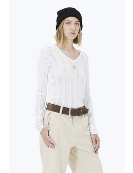 Pointelle V Neck Sweater by Marc Jacobs