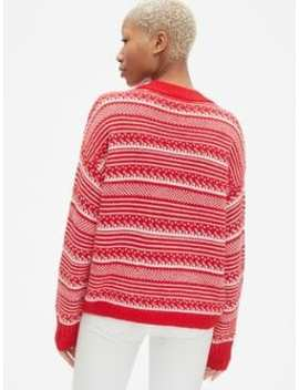 Fair Isle Crewneck Pullover Sweater by Gap