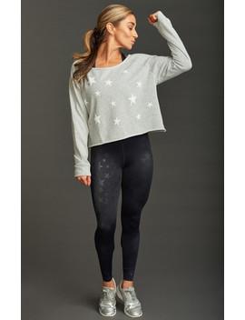 Rhea Cropped Sweatshirt ~ Distressed Stars Graphic by Show Me Your Mu Mu