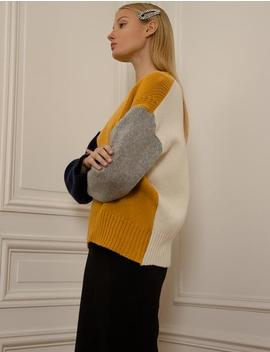 Yellow Colorblock Sweater by Pixie Market