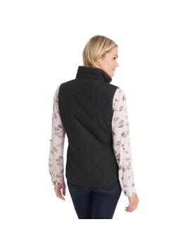 Quilted Vest With Suede Piping by G.H.Bass & Co.