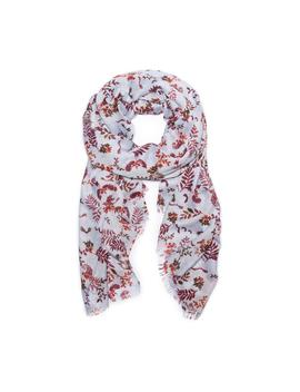 Floral And Bird Printed Oblong Scarf by G.H.Bass & Co.