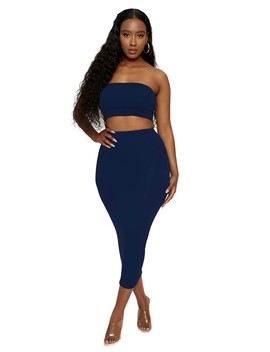 The Nw Bandeau Boo Skirt Set by Naked Wardrobe