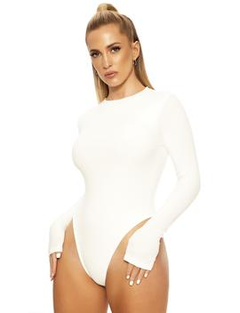 The Ribbed Effect Bodysuit by Naked Wardrobe