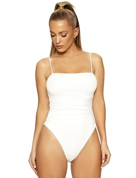 The Nw Ruched To The Sides Bodysuit by Naked Wardrobe