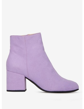 Lilac Microfibre 'Aubree' Ankle Boots by Dorothy Perkins