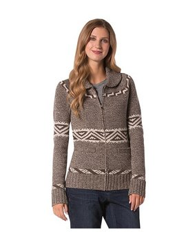 Cabin Jacquard Zip Cardigan by Wind River