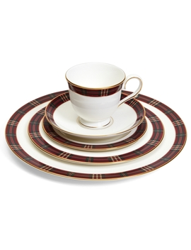 Signature Tartan Five Piece China Place Setting by Brooks Brothers