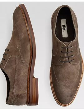 Joseph Abboud Bruno Taupe Suede Wingtip Oxfords by Mens Wearhouse