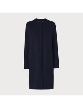 Pandora Navy Wool Cashmere Coat by L.K.Bennett