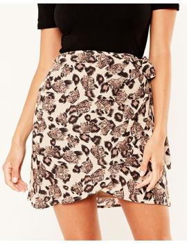 Print Wrap Skirt by Glassons