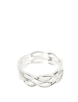 Silver Tone Double Loopy Ring by Claire's