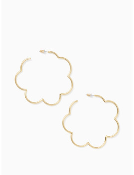 Scrunched Scallops Large Hoops by Kate Spade