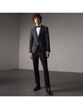 Slim Fit Wool Mohair Evening Trousers by Burberry