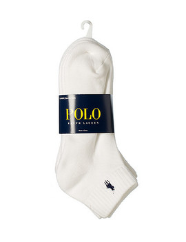 6 Pack Quarter Sock by Polo