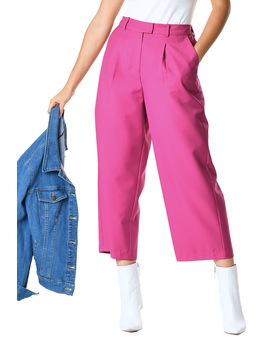 Vibrant Twill Suiting Crop Pants by Eshakti