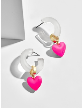 Neve Lucite Huggie Hoop Earrings by Baublebar