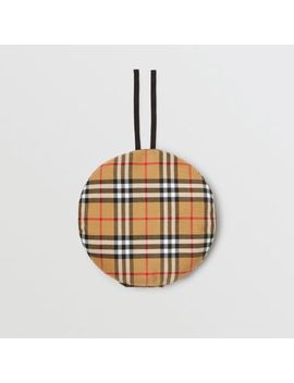 Pin Detail Vintage Check Wool Beret by Burberry