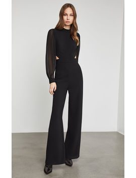 Mock Neck Cutout Jumpsuit by Bcbgmaxazria